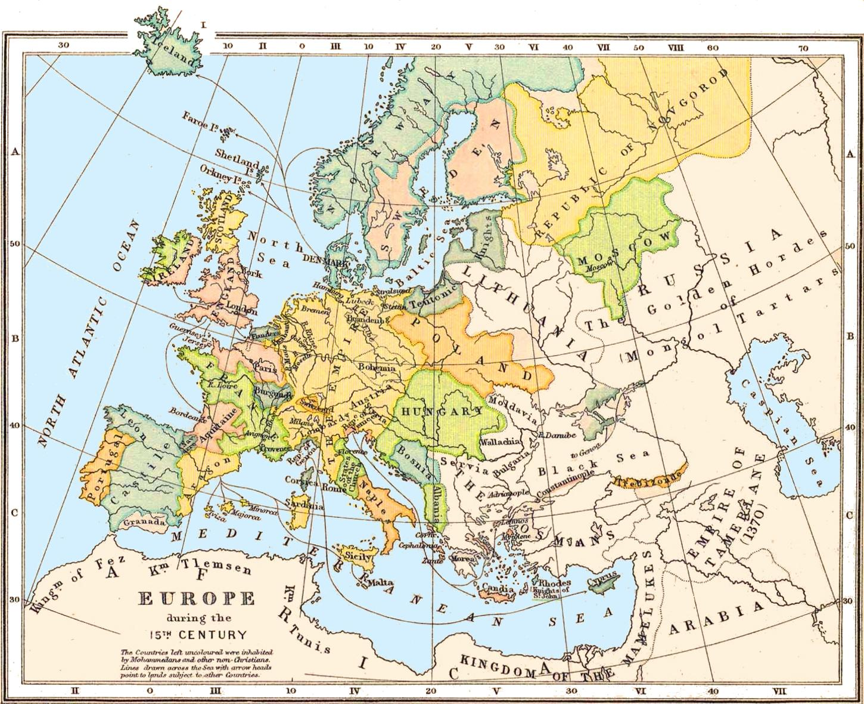 carte europe 476