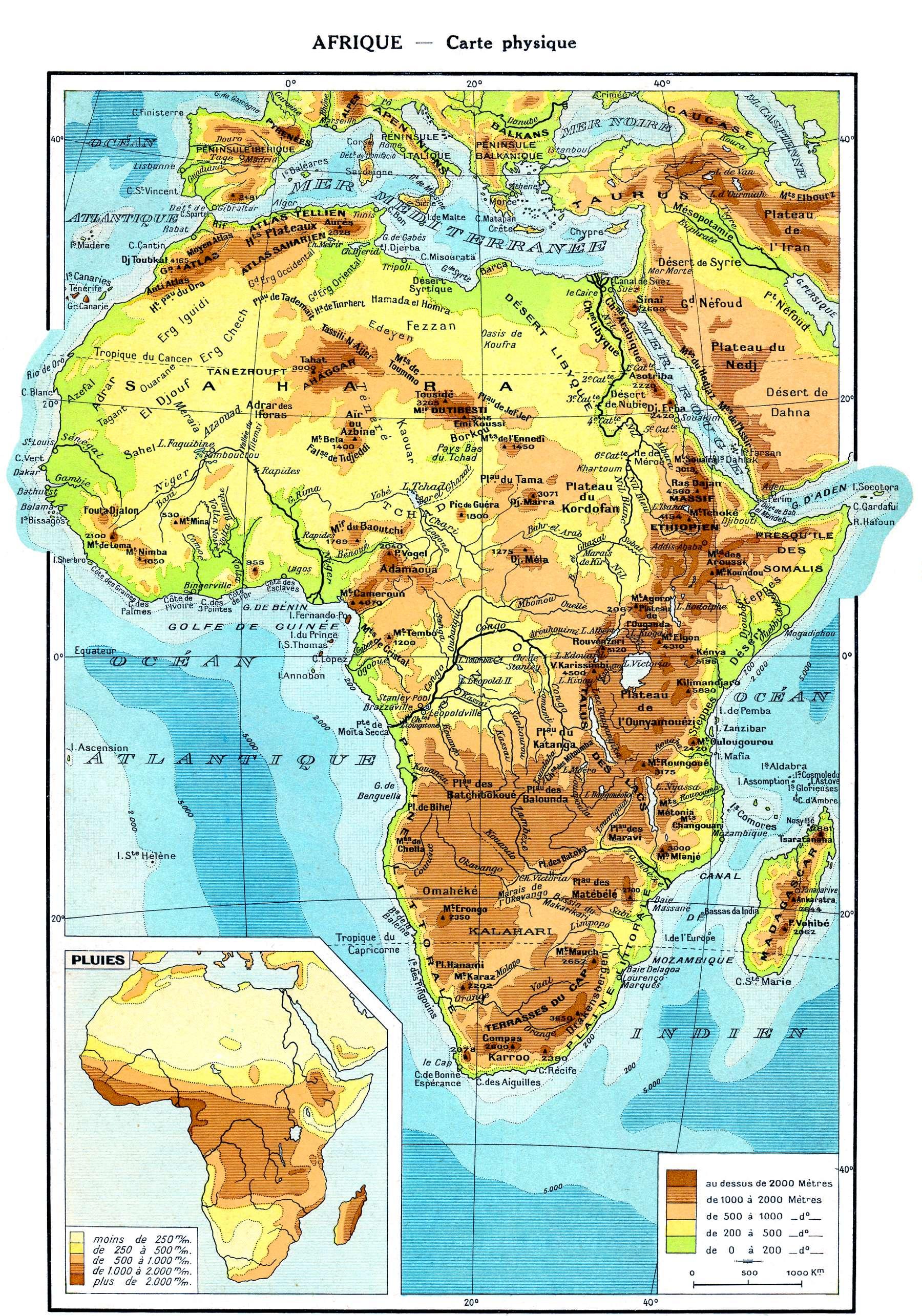 Carte Afrique Physique.Physique Afrique Blanc Carte Pdf